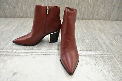 Circus Sam Edelman Cal Faux Leather Ankle Boots, Women's Size 9M, Mahogany NEW