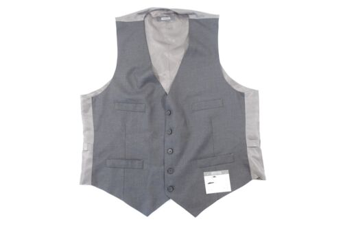 KENNETH COLE REACTION GRAY 44 REGULAR VEST MENS NWT NEW