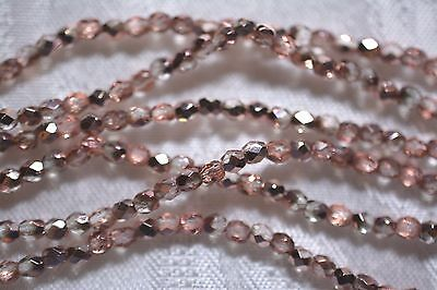 Czech Fire Polished 3Mm Round Faceted Glass Beads   Apollo Gold
