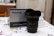 Tokina AF 17-35mm F4 PRO FX full-frame lens for Nikon DSLR Penrith Penrith Area Preview