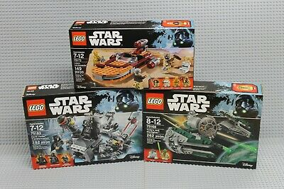 Lego Star Wars Lot of 3 Retired Sets! 75168, 75173 & 75183! Brand New Sealed!