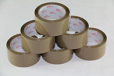 """6 Rollen Klebeband Packband Orange /""""Vorsicht Glas/"""" 50 mm x 66 Me 0,02 EUR//m"""
