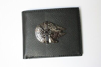 Star Wars Millennium Falcon Metal Bifold Wallet Leather Cards Notes Coins
