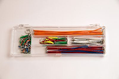 Breadboard Or Pcb Jumper Wire Kit Box 140 Pcs Ideal For Arduino
