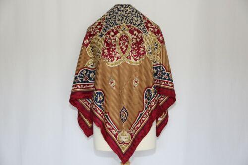 Authentic VAKKO silk scarf vintage luxury designer Square large