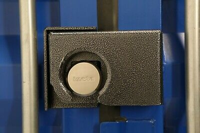 Powder Coated Bolt On Shipping Container Security Lock Box W Free Puck Lock