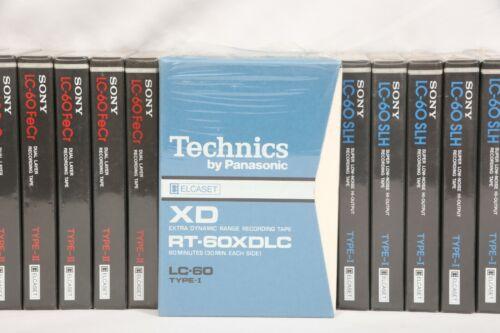 1 NEW SEALED Technics XD ELCASET RT-60XDLC LC-60 Type I Tape