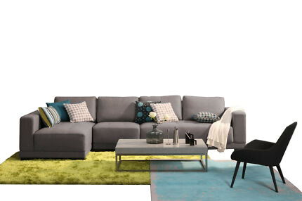 BRAND NEW SOLA FABRIC SOFA 3 SEATER+ARMLESS+CHAISE 3 COLOURS