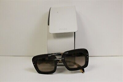 PRADA SPR30R UBT-402 Brown/Tan Wood Women's Square Sunglasses USED FREE SHIPPING