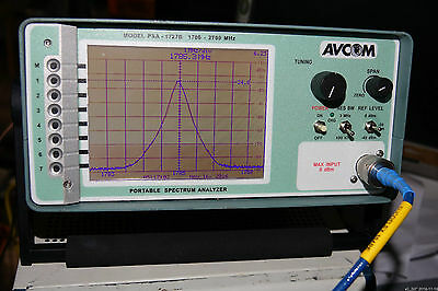 Avcom Psa-1727b 0dbm 1mw 1.7ghz To 2.7ghz Signal Portable Spectrum Analyzer
