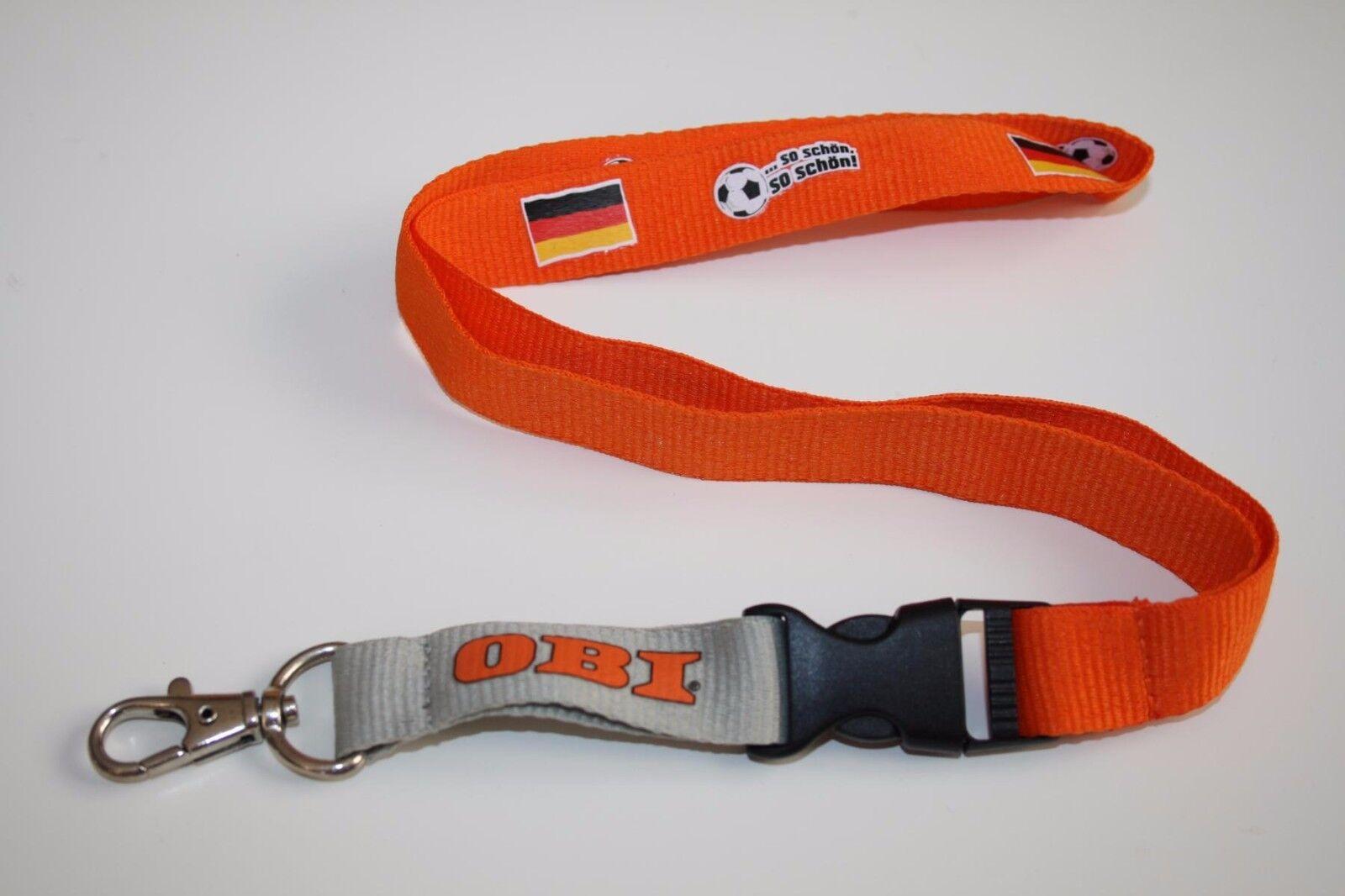 Obi Baumarkt Schlüsselband / Lanyard NEU!! Orange