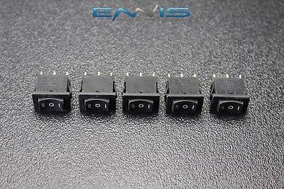 5 Pcs Mini On Off On Momentary Spring Kickback Rocker Switch Toggle Ec-1115pp