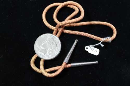 BOLO TIE WITH 1924 UNITED STATES PEACE DOLLAR,  WESTERN BOLO TIE & SILVER DOLLAR