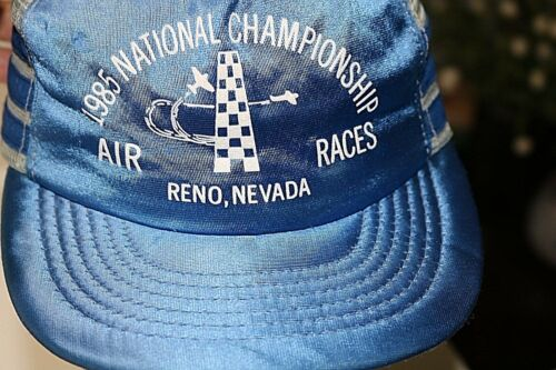 1985 Reno Air Races National Championship Baseball Cap Hat Snapback Mesh