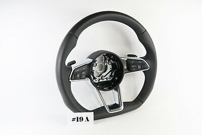 AUDI A4 A4 S4 S5 TT TTrs LEATHER PERFORATED FLAT BOTTOM STEERING WHEEL #19A