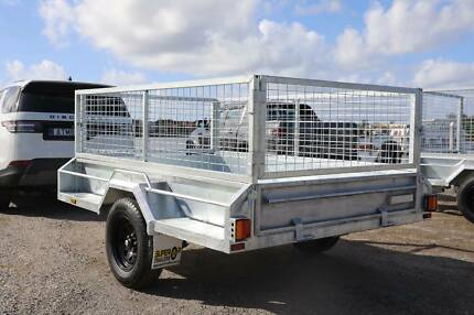 SALE! 7x4 Trailer Galvanised with 600mm Cage Spare Jockey REGO Mango Hill Pine Rivers Area Preview