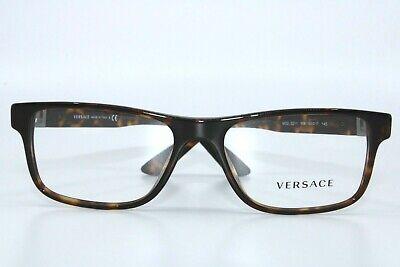 Versace VE3211 108 Tortoise Eyeglasses New Authentic 55