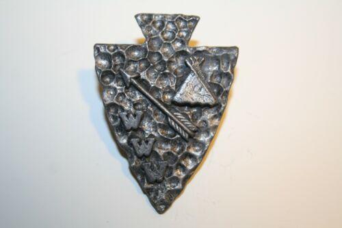 Boy Scout  Teepee, Arrow, & WWW   Metal Neckerchief Slide