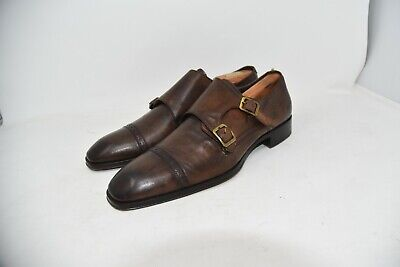 To Boot New York Double Monk Brown Italy Shoes MEN'S SZ 8 US 9