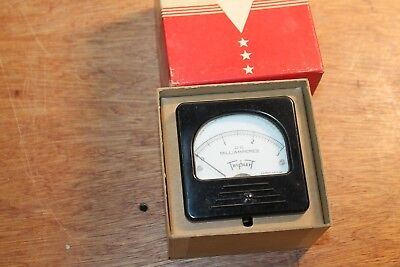 Vintage Triplet Amp Meter Model 327-t In Original Box