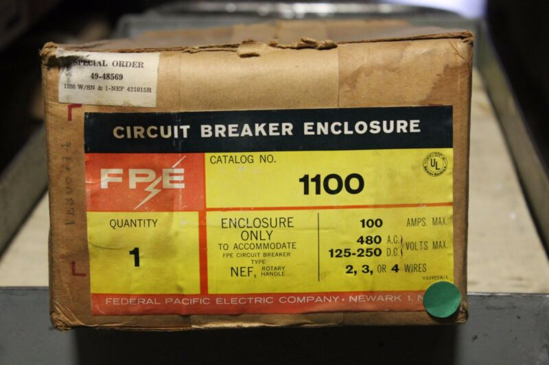 Federal Pacific Electrical NEF1100 Circuit Breaker Enclosure - (NEW IN BOX)
