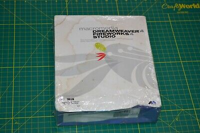 Sealed Macromedia Web Design Studio Dreamweaver4 Fireworks4 Windows New