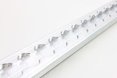 2x Alu Airlineschiene Zurrschiene eckig flach blank 2m Slimversion/light Version