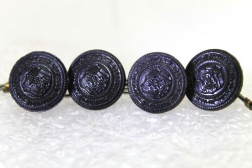 WWII United States Merchant Marine black buttons 24L 16mm 5/8in lot of 4 B8977