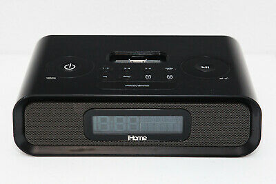 iHome iP99b 30-pin iPod iPhone alarm clock radio music charging dock AM FM