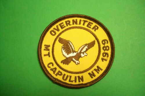 Vintage Girl Scout Mt. Capulin,NM Overniter 1989 Patch