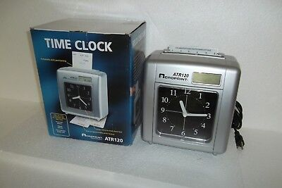 ACROPRINT ATR120 Electronic Time Recorder Clock Top-Loading CMOS Battery Backup
