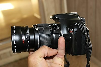 Canon Rebel T3 12.2MP SLR With 18-55mm and Wide Angle lens.(2 LENS)Freeshipping!