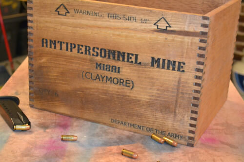 Vintage M18A1 Claymore Mine Crate Replica - For Man-cave, Prop, Decor, Storage