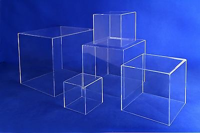Acrylic 5 Sided Display Case Cube 8 X 8 X 8h - Fsc8