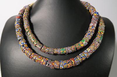 Alte Glasperlen Millefiori 85cm Old African trade beads Perles Venezia Afrozip