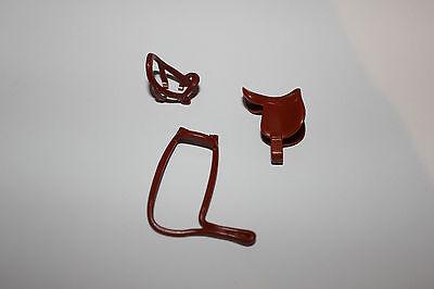 Playmobil Pferde Neue Generation Zaumzeug mit Sattel Braun drei Teilig