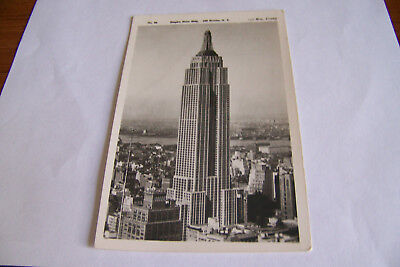 Rare Vintage Rppc Real Photo Postcard C1 Empire State Bldg New York City