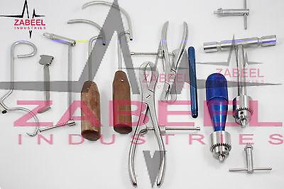Orthopaedic Veterinary Surgical Medical 9 Pcs Set Instrument Zabeel Industries