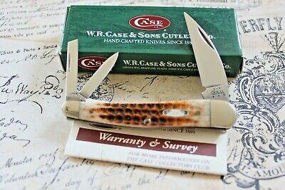 2004 Case XX USA 6 Dot Honey Jigged Bone Sea Horse Whittler Knife 6355 WH MIB