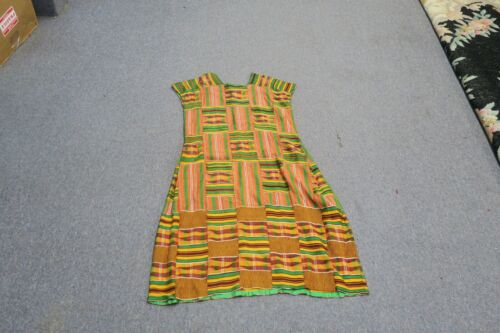 Vintage Scala Custom Tailored Kente Cloth Dress African