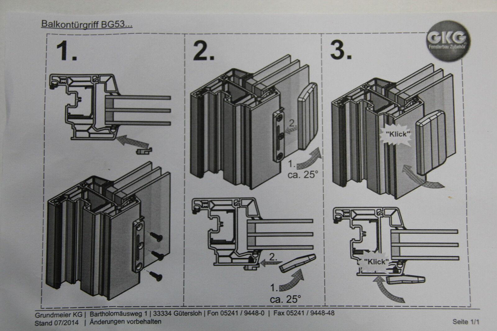 BG53 Terrassentürgriff Balkontürgriff Türgriff Ziehgriff Muschelgriff div Farben