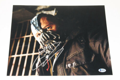 TOM HARDY SIGNED THE DARK KNIGHT RISES BANE 11x14 PHOTO C BATMAN BECKETT BAS COA