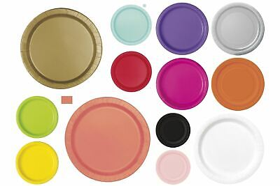 Christening Paper Plates (Disposable Round Paper Plates - Solid Colour)