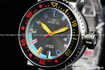 Invicta Men 52mm Pro Diver Automatic Black Dial FINDING NEMO Multicolor SS Watch