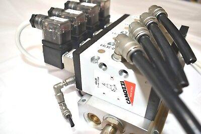 Camozzi 434-35 Pneumatic Directional Solenoid Valves Coils Manifold Lot