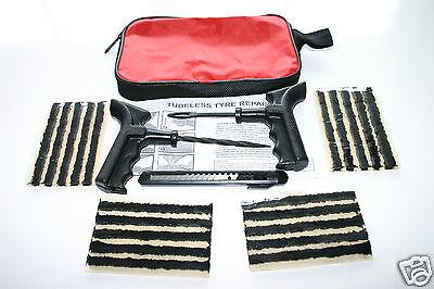 TYRE TIRE PUNCTURE REPAIR KIT WITH 20 REPAIR STRINGS & FREE VALVE KEY