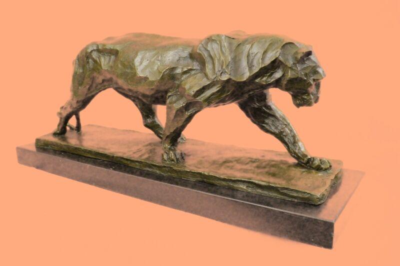 Hand Made Extra Large Bugatti Puma Mountain Lion Museum Quality Bronze Figure
