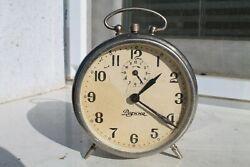 Vintage Old made Bulgarian Rodina  Desktop  Alarm Clock  Watch