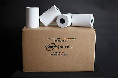 50 Thermal Receipt Paper Rolls 3-18 Inch X 119 Feet