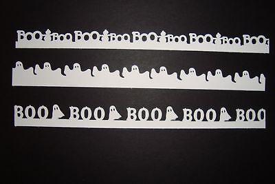 10 BLACK OR WHITE HALLOWEEN GHOST BORDERS DIE CUTS PUNCHES SCRAPBOOK](Halloween Black Punch)